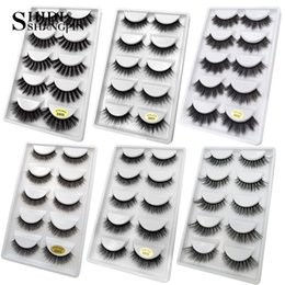 False Eyelashes Extensions Canada - 3D Mink Lashes Crisscross False Eyelashes 5 pairs Handmade Nature Long Thick Messy Tapered Makeup Fake Eye Lashes Extensions