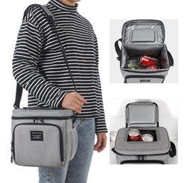 Picnic Ice Packs Australia - 8L New waterproof lunch box bag Oxford cloth insulation ice pack single-shoulder lunch ice pack beer bag YKK zipper picnic