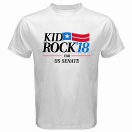 2bbe875759e5d New Kid Rock for US Senate  18 Men s White T-Shirt Size S to 3XLr hip hop funny  tee mens tee shirts custom printed T-shirt