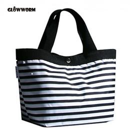 Multi Color Ladies Handbags Australia - 2017 Women Beach Canvas Bag Fashion Color Stripes Printing Handbags Ladies Large Shoulder Bag Totes Casual Bolsa Shopping Bags
