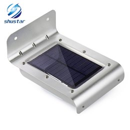 Chinese  16 LED Outdoor Solar Led Light Wall Mount Security Lamp Super Bright Waterproof Light Motion Sensor Garden Patio Path Fence Lamp manufacturers