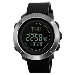 Digital Round NZ - WATCH MEN Waterproof Compass Date Time Alarm Sport Round Digital Display Wrist Watch