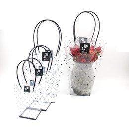 10PCS Pvc puntino trapezoidale sacchetto trasparente in vaso bonsai fiore sacchetto regalo fiori imballaggio borse spedizione gratuita