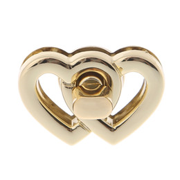 quality metal craft UK - Metal Heart Clasp Buckles Turn Lock Twist Locks For Handbag Bag Purse Craft DIY Handmade Bag High Quality Lock