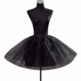 $enCountryForm.capitalKeyWord NZ - Children Wedding Accessories White And Black Children Petticoat Vestido Longo Ball Gown Crinoline Skirt Petticoats In Stock