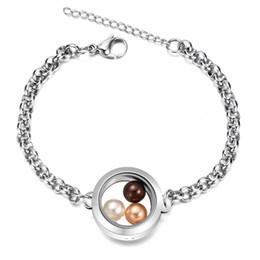 ff11e8ece33f Pulsera de joyería de perla de agua dulce de acero inoxidable 316L perla  más nueva de