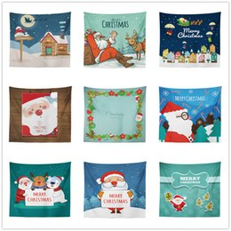 snowman towel 2019 - Merry Christmas Wall Decorations Background Hanging blanket tapestry Santa Claus Elk Snowman Ornaments Beach Towels outd