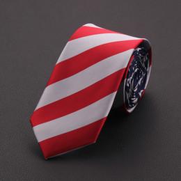 Discount usa tie - Necktie fashion American USA Tie Flag Print Casual Women Ties Polyester Woven Classic Men Party Wedding tie Neckwear Cra