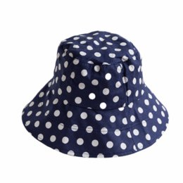 Female Bucket Hats UK - 2018 New Women Dot Color Collision Fisherman Hat  Female Korean Classic 6b0263dab61f