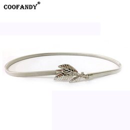 $enCountryForm.capitalKeyWord Canada - Belts Shape Women Buckle Waist Elastic Casual Fashion Hook Silver Leaves Gold