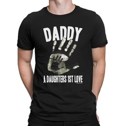 Details Zu DADDY A Daughters 1st Love Hand Mens TShirt Funny Gift Dad Birthday Fathers Day