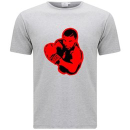 fc7542342abb67 New Iron Mike Tyson Red Style Boxing Icon Men s Grey T-Shirt Size S-3XL