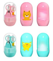 Wholesale Cartoon Manicure Set Baby Nail Care Grooming Convenient Daily nails Care Kits Scissor Kids Tools Set MMA301