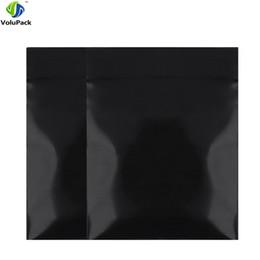 Mini Pe Bags NZ - Fast shipping 100pcs PE pouch bag three side seal black mini Poly ZipLock Bags Pouches 4x5cm