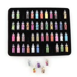 $enCountryForm.capitalKeyWord NZ - 48 Bottles Set Nail Glitter Colorful Rhinestones Beads Sequins Mixed Design Paillette Nail Art Decorations Manicure Tools DK955