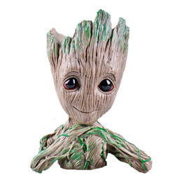 Guardians Galaxy Figures NZ - Guardians of the Galaxy Avengers Groot Flowerpot Action Figures Home Decoration Toy PVC Creative Craft Figurine C4886