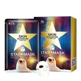 Face Mask Peels Off Australia - DHL 4lot Star Mask Glitter Glow Star Whitening Mask Sequin seaweed Black Face Mask Peel off Moisturize Skin starry sky Health Care