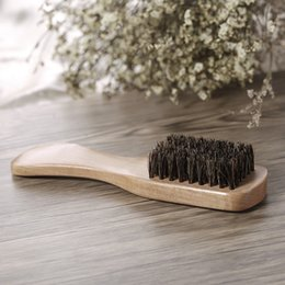 boar combs Australia - Men's Beard Brush Boar Bristle Mustache Shaving Comb Face Massage Facial Hair Cleaning Brush Beech Long Handle
