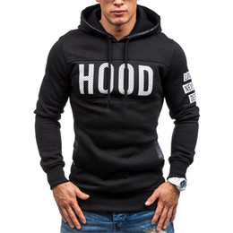 Blue pullover sweater online shopping - 2018 Sweater Men Chest Print Hood Letter Print Male Sweater Hip Hop Autumn Winter Sweater Mens Pullover Cotton XXXL Plus Velet for Hoodies
