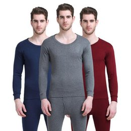 $enCountryForm.capitalKeyWord Australia - 2018 New Brand Thermal Underwear Men Solid Autumn Winter Spring Soft Cotton Long Johns Thermo Underwear Sets Male Suit Clothing