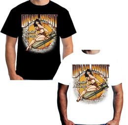 $enCountryForm.capitalKeyWord NZ - Velocitee Mens Dinah Might T Shirt WW2 Nose Cone 40's Pin Up Rockabilly W15058