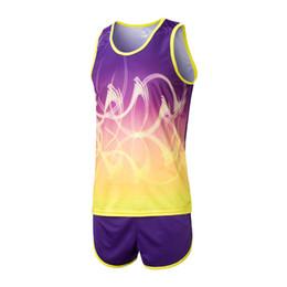 Track Field Sports UK - Survetement Homme 2pcs Men Sport Suits Marathon Vest+Shorts Racing Clothing Track and Field Clothing Jogging Male Running Sets