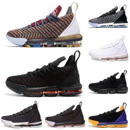 the best attitude c0ac5 66b5b 1 THRU 5 OFF CNY lebron 16 nero oro bianco uomo scarpe da basket lebrons 16s