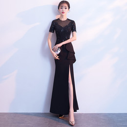 9207e61aab Shop Black Long Sleeved Formal Gown UK | Black Long Sleeved Formal ...