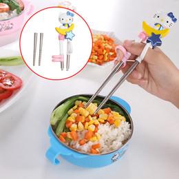 Chopsticks de treinamento de bebê bonito Cartoon animais iluminação pauzinhos Olá Kitty crianças crianças aprendendo em Promoção