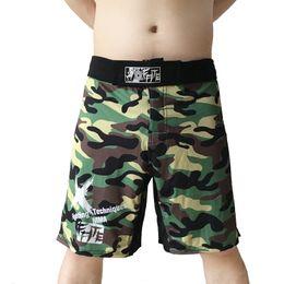Cheap Trunks Canada - Shorts Kick Boxing Muay Thai Shorts Trunks Mma Cheap Shorts Men Camo Sanda Boxe Fight Wear Sotf Grappling Mma Pants Sport