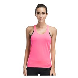 0cb3f9891f1081 Quick Dry Running Vest Women Anti-sweat Loose Sport Tank Tops Solid  Racerback Fitness Gym Vest O-neck Yoga Vest