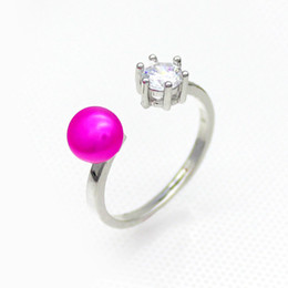 $enCountryForm.capitalKeyWord Canada - Premium Freshwater Pearl Silver Ring, Women's Designed Ring (Ring Pearl has 28 Colors)