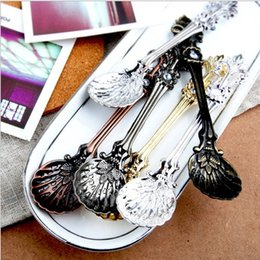Sugar free cakeS online shopping - Vintage Alloy Coffee Spoon Crown Palace Carved Dining Bar Tableware Small Tea Ice Cream Sugar Cake Dessert Dinnerware Spoons Scoop free sh