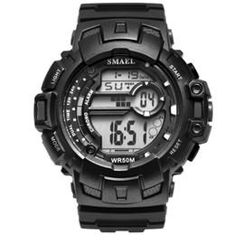 Digital Watches Generous Sanda Luxury Brand Outdoor Men Watch Multifunction Waterproof Compass Chronograph Led Digital Sports Watches Modern Design Watches