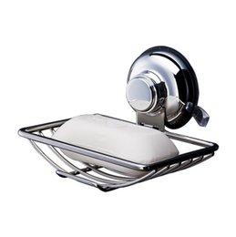 Опт Вакуумное всасывающее мыло Держатель для посуды Барное мыло Губка для душа Ванная комната Ванна и раковина из нержавеющей стали NN