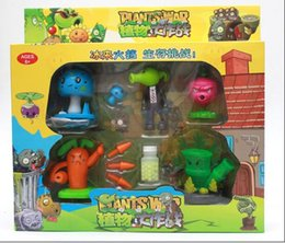 Plants vs. Zombies Hand Made Jade Bamboo Ravanello sparatutto Blue Mushroom Mushroom Pea Regalo di alta qualità del giocattolo