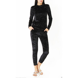 Slim Sport Femme NZ - Women Two Piece Set Female Winter Tracksuit Velvet Hoodies Top + Pants Ladies Long Sleeve Outfit Femme Sporting Suits