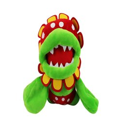 Sale Toys Super Mario UK - Hot Sale 16cm Petey Piranha Corpse Flower Super Mario Bros Plush Stuffed Doll Toy For Kids Best Holiday Gifts Wholesale