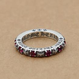 Brand new 925 bijoux en argent sterling de mode vintage European European style designer anneaux avec pierres beau cadeau livraison gratuite en Solde