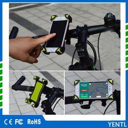 2018 YENTL Yeni kaymaz Evrensel 360 Dönen Bisiklet Bisiklet Telefon Tutucu Gidon Klip Akıllı Cep Cellphone Için Montaj Braketi Standı