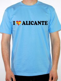 97f089fe Details zu I LOVE ALICANTE - Spanish Spain Themed Mens T-Shirt Various  Colours and Sizes Funny free shipping Unisex Casual tee gift
