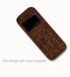 Chinese  New arrival free shipping luxury Wood Shell Ultra Thin Mini Card Pocket mini cell phone support EUROPE GSM network manufacturers