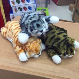 Battery cat toy online shopping - High simulation electric plush toy funny rolling cat Children s electric Vocal toy Electronic Pets best gift for kids