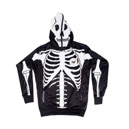 Discount skull hoodies wholesale Skull Poker Hoodies Sweatshirts Men Women 3D Pullover Funny Rock Tracksuits Hooded Male Jackets Fashion Casual Outwear W