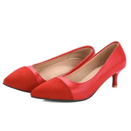 $enCountryForm.capitalKeyWord UK - SJJH 2018 Fashion Women Kitten Heel Pumps with Pointed Toe and Suede Leather Material Elegant Shoes with Large Size Available A021
