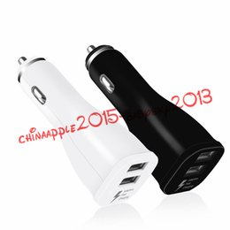 gps edge NZ - car Charger Fast adaptive Dual 2 Usb ports Adaptive Rapid Car Charger Adapter for samsung galaxy s6 s7 edge s8 plus note 4 5 gps mp3 pc