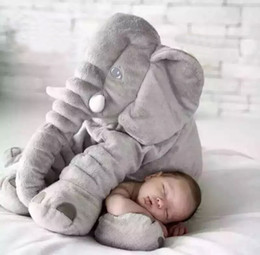 Discount sleeping toys - 2017 Cute Baby Animal Elephant Style Doll Stuffed Plush Toy Pillow Kids Children Room Bed Decoration Sleep Grey Love Toy