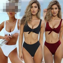 7e77471507e87 Sexy high riSe bikini online shopping - 4 Colors Women High Rise Bikinis  Cross Bandage Swimsuit