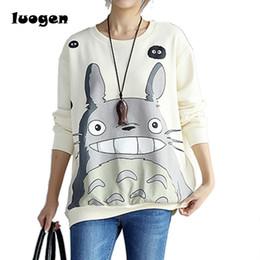 b699547cc8b My Neighbor Totoro Hoodies Female Harajuku Totoro Animal Printed Cotton  Sweatshirts Women Long Sleeves O-neck Sudaderas Tops