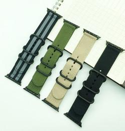 Vente en gros Sport Nylon Toile Tissu Smart Watchband 22mm 24mm Qualité Nylon Montre bande Pour Apple Montre bande 38mm 42mm Nato Strap